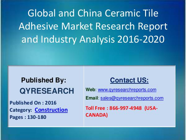 Global Steel Sandwich Panels Industry Overview & Major Regions Status Global and China Ceramic Tile Adhesive Market 2022
