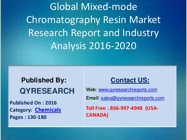 Global Hoverboard Scooters Market 2016 Segmentation by Application Global Mixed-mode Chromatography Resin Market 2016