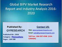 Global BIPV Market 2016 Analysis, Regional Outlook and Strategies