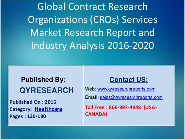 Contract Research Organizations Services Market