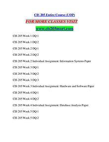 CIS 205 MART Career Begins/cis205mart.com