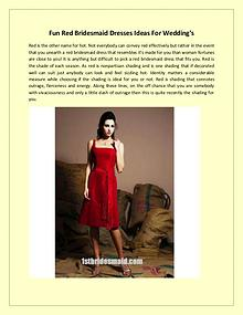 Fun Red Bridesmaid Dresses Ideas For Wedding's
