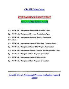 CJA 355 MENTOR Invent Yourself/cja355mentor.com