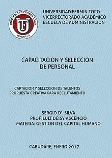 Captación y Selección de Capital Humano
