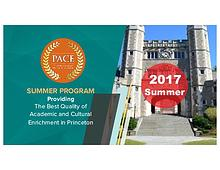 Princeton Academy Culture Enrichment (PACE) Summer 2017
