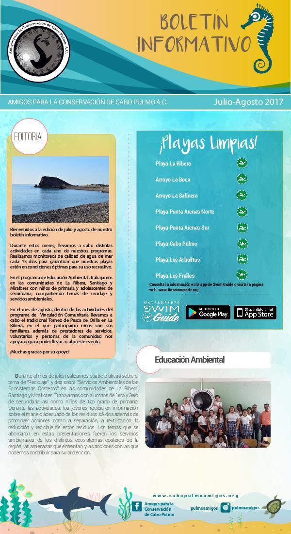 Boletín Informativo ACCP Julio- Agosto 2017