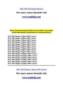 ACC 556 STR Endless Education /uophelp.com
