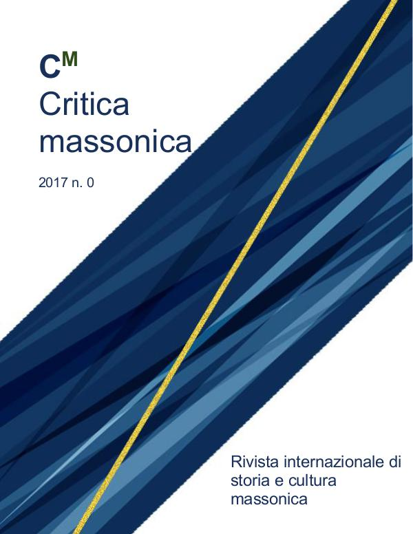Critica Massonica N. 0 - gen. 2017