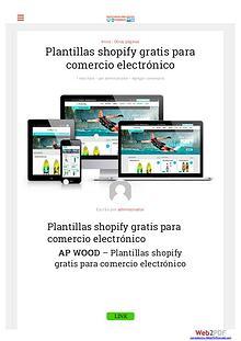 Plantillas shopify gratis para comercio electrónico