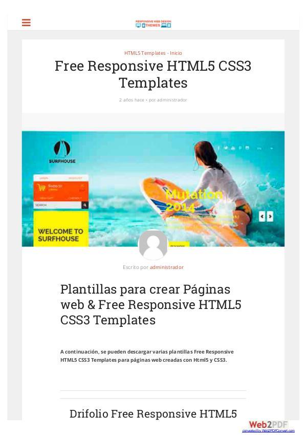 Free Responsive HTML5 CSS3 Templates Free Responsive HTML5 CSS3 Templates