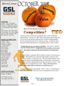 October 2013 GSL Employee Newsletter Oct. 2013
