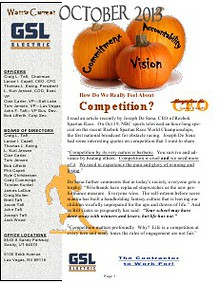 October 2013 GSL Employee Newsletter