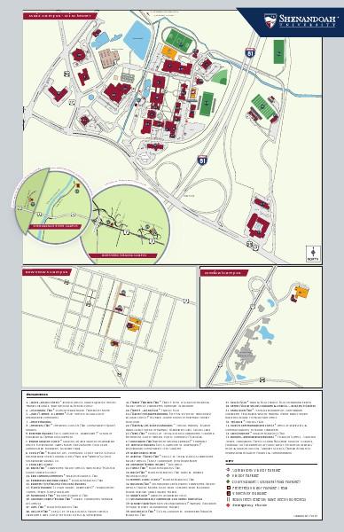 Maps Shenandoah University Campus Map