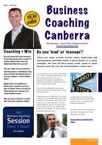Business Coaching Canberra July 2013