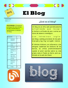 Revista digital blog Volumen 1