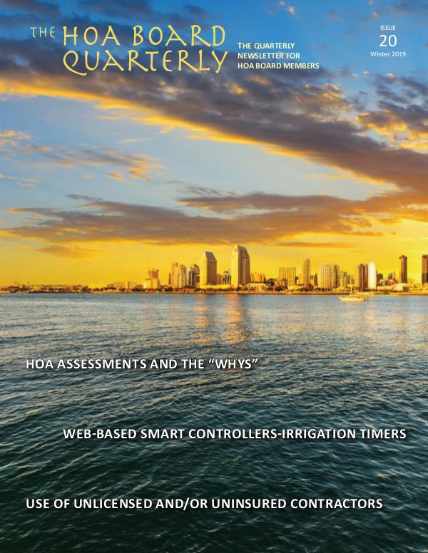 The HOA Board Quarterly Winter 2019 Issue #20