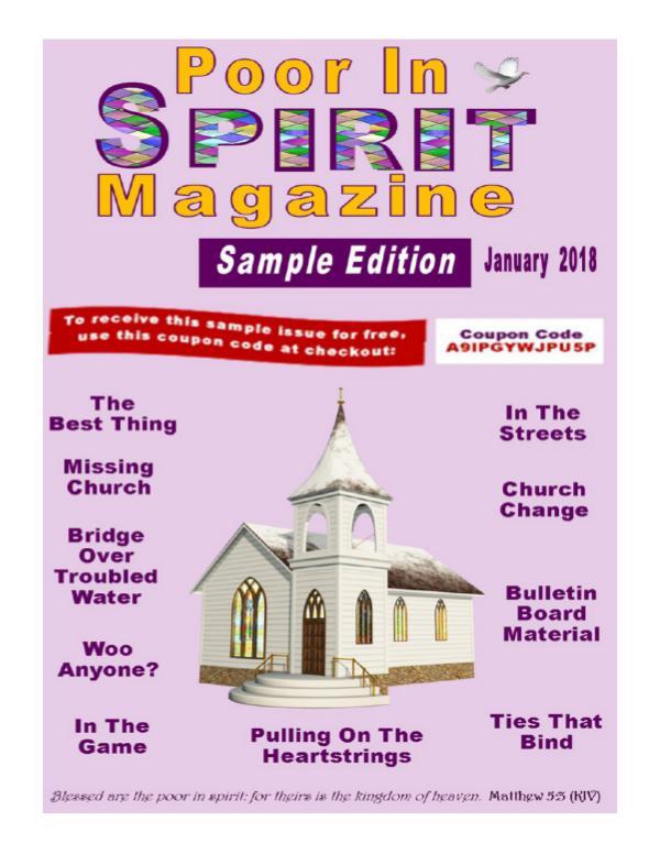 Poor In Spirit Magazine Sample Edition