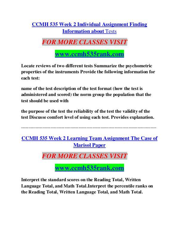 CCMH 535 RANK Career Begins/cchm535rank.com CCMH 535 RANK Career Begins/cchm535rank.com