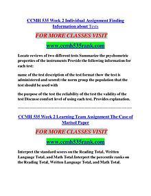 CCMH 535 RANK Career Begins/cchm535rank.com