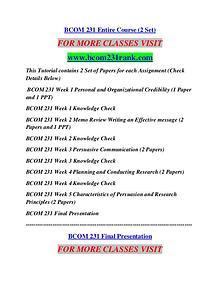 BCOM 231 RANK Career Begins/bcom231rank.com