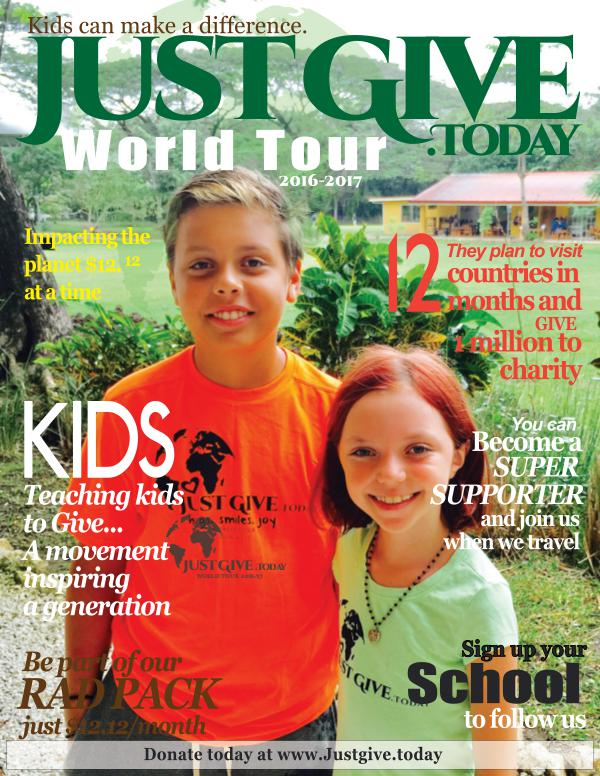 Just Give Today World Tour Issue 1 Volume 1