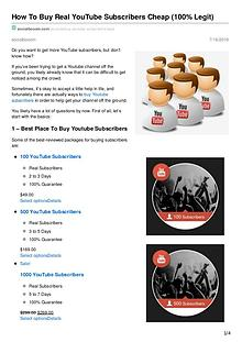 How To Buy Youtube Real Youtube Subscribers Cheap