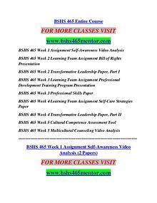 BSHS 465 MENTOR Career Begins/bshs465mentor.com