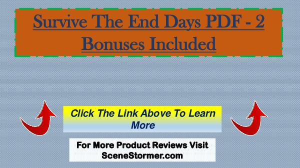 Survive The End Days PDF - Learn More Survive The End Days PDF - Learn More