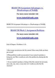 BIAM 530 Course Great Wisdom / tutorialrank.com