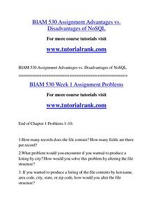 BIAM 530 Course Great Wisdom / tutorialrank.com