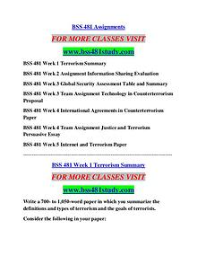BSS 481 STUDY Career Begins/bss481study.com