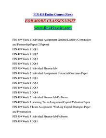 FIN 419 ASSIST Future Starts Here/fin419assist.com