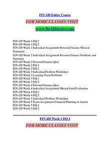 FIN 420 ASSIST Future Starts Here/fin420assist.com