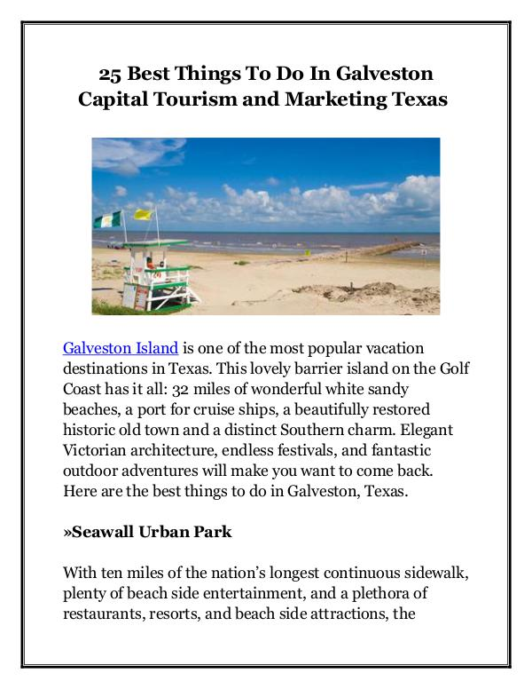 25 Best Things To Do In Galveston Capital Tourism