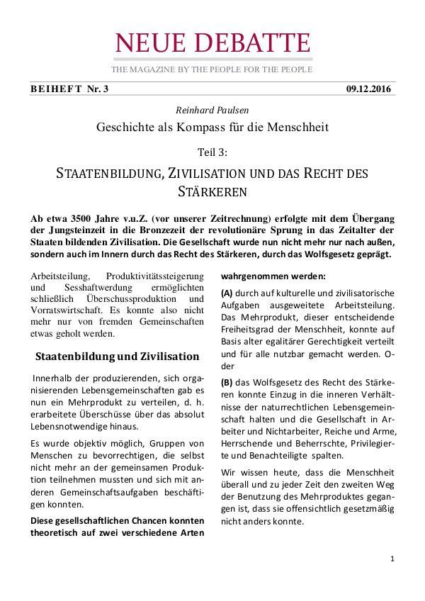 Neue Debatte - Beiheft #003 - 04/2017 Staatenbildung und das Recht des Stärkeren
