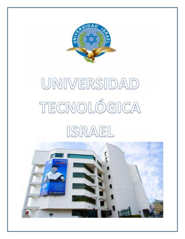 Universidad Tecnológica Israel 03/02/2017