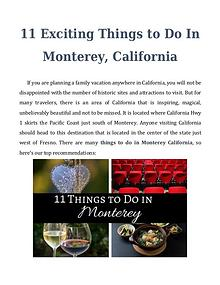 11 Exciting Things to Do In Monterey, California