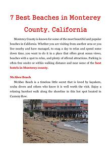 7 Best Beaches in Monterey County, California