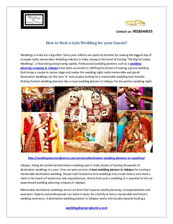 How to Host a Gala Wedding for your Guests? How to Host a Gala Wedding for your Guests?