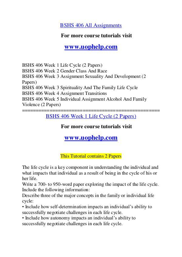 BSHS 406 Endless Education /uophelp.com BSHS 406 Endless Education /uophelp.com