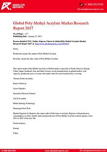 Poly Methyl Acrylate Market Research Report 2017