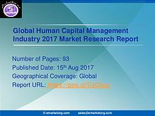 Human Capital Management Market 2017 Global Share, Trend and Opportun