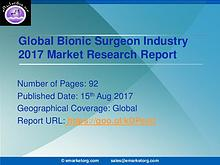 Bionic Surgeon Industry – Global Market Status with Regional Outlook