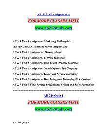 AB 219 STUDY Extraordinary Life/ab219study.com