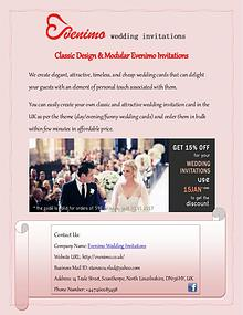 Buy Classic Designer & Modern Wedding Invitations
