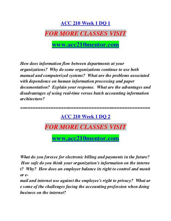 ACC 210 MENTOR Extraordinary Life/acc210mentor.com ACC 210 MENTOR Extraordinary Life/acc210mentor.com