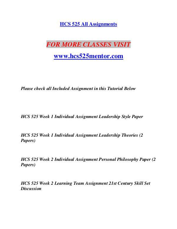 HCS 525 MENTOR Career Begins/hcs 525mart.com HCS 525 MENTOR Career Begins/hcs 525mart.com