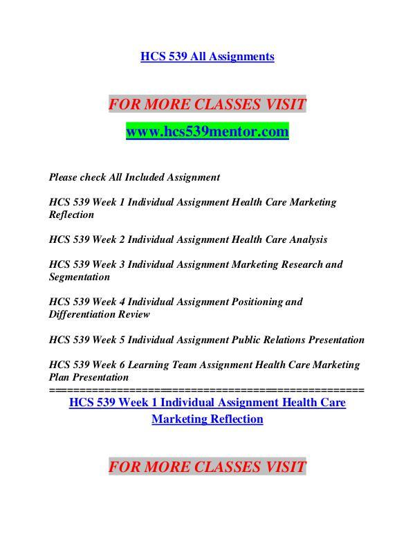 HCS 539 MENTOR Career Begins/hcs 539mart.com HCS 539 MENTOR Career Begins/hcs 539mart.com