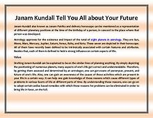 Janam Kundali Tell You All About Your Future