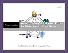 Ways to Solve Critical Vastu Errors for Home – Vastu Consultants
